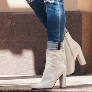 Steve Madden Editor 10 White Leather Ankle NEW